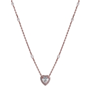 Carat* London Cora Rose Heart Necklace