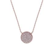 Carat* London Gala Rose Round Pendant Necklace