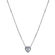 Carat* London Cora White Heart Necklace