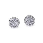Carat* London Gala White Pave Stud Earrings