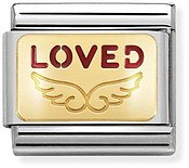 Nomination Gold Angel Loved Charm