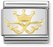 Nomination Gold Crown Angel Charm