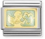Nomination Gold Good Luck Messenger Angel Charm