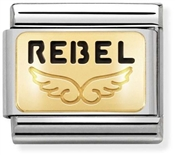 Nomination Gold Angel Rebel Charm