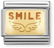 Nomination Gold Angel Smile Charm