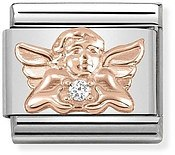 Rose Gold Angel of Family Charm by Nomination