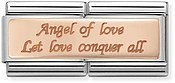 Nomination Rose Gold Double Angel of Love Charm