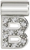 Nomination SeiMia Silver B Initial Letter Charm