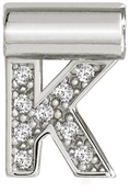 Nomination SeiMia Silver K Initial Letter Charm