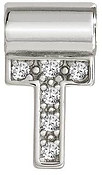 Nomination SeiMia Silver T Initial Letter Charm