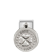 Nomination Silver shine Good Luck Charm
