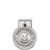 Nomination Silver shine Happiness Charm