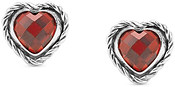 Nomination Red CZ Silver Heart Earrings