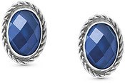 Blue CZ Silver Earrings by Nomination