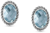 Nomination Light Blue CZ Silver Earrings