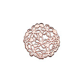 Storie Large Rose Gold Flower Disc