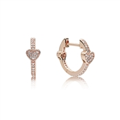 PANDORA Rose Alluring Hearts Hoop Earrings