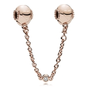 PANDORA Rose Embossed Hearts Safety Chain
