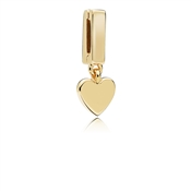 PANDORA Shine Flat Look Floating Heart Charm