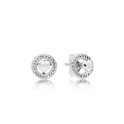 PANDORA Forever Hearts Stud Earrings
