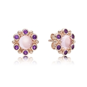 PANDORA Rose Heraldic Radiance Stud Earrings