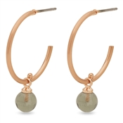 Pilgrim Rose Gold + Grey Arden Hoop Earrings