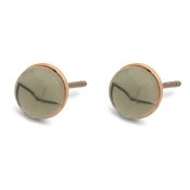 Pilgrim Rose Gold + Grey Arden Earrings
