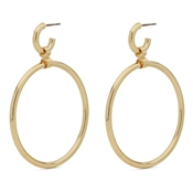 Pilgrim Gold Drop Hoop Earrings