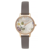 Olivia Burton Wishing London Grey & Rose Gold Watch