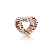 Rose Beaded Heart Charm by Pandora