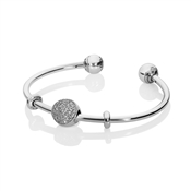 PANDORA Pave Open Bangle Gift Set