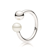 Pandora Silver Contemporary Pearl Ring