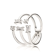 Pandora Silver Shards of Sparkle Ring