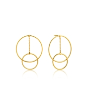 Ania Haie Gold Modern Front Hoop Earrings
