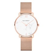 Paul Hewitt Miss Ocean Marble Rose Gold Mesh Watch