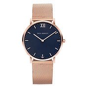 Paul Hewitt Sailor Line Blue + Rose Gold Mesh Watch