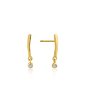 Gold Shimmer Bar Stud Earrings by Ania Haie