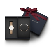 Daniel Wellington Ladies Petite Melrose Watch & Bracelet Gift Set