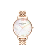 Olivia Burton Mother of Pearl & Rose Gold Bracelet