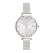 Olivia Burton Rose Gold & Silver Mesh Boucle Watch