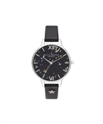 Olivia Burton Celestial Black & Silver Star Watch