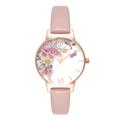 Olivia Burton Enchanted Garden Vegan Rose Sand Watch