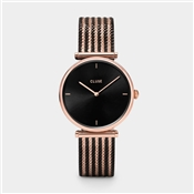 CLUSE Triomphe Rose Gold & Black Watch