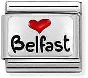 Nomination Heart Belfast Charm