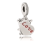 Pandora Disney Mickey and Minnie with Love Pendant Charm