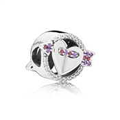 PANDORA Sparkling Arrow & Heart Charm