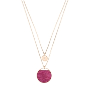 Swarovski Ginger Layer Fuchsia Necklace