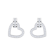 Swarovski Lovely Silver Heart Earrings