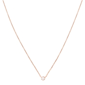 Argento Rose Gold White Opal Necklace