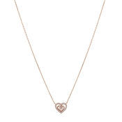 Argento Rose Gold Crystal Heart Necklace
